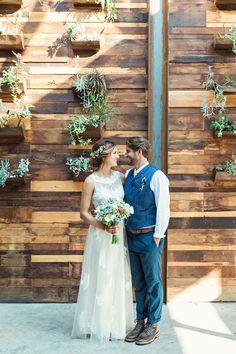 stephanie + john   Georgia Gown by Etoile for BHLDN   image via: green wedding shoes   #BHLDNbride