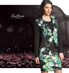 Notice the metallic finish on the floral! #floral set #fallfashion #musthave #Cartise #women #apparel #coloryourlife  www.cartise.ca