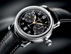 Longines Avigation Oversize Crown Chronograph angle #luxurywatch #Longines-swiss Longines Swiss Watchmakers watches #horlogerie @calibrelondon