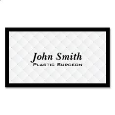 Pearl Quilt Plastic Surgeon Business Card. This great business card design is available for customization. All text style, colors, sizes can be modified to fit your needs. Just click the image to learn more!