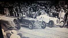 GP RIO DE JANEIRO (GAVEA) 1936 , Alfa Romeo 2900A #4 of Carlo Pintacuda and Alfa Romeo 2900A #6 of Atillio Marinoni (both of Scuderia Ferrari) , Alfa Romeo monza #2 of Hellé Nice and Alfa Romeo 8C 2300 #22 of Manuel de Teffé on first row , start grid