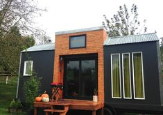 """Couple Says """"Why not"""" and Built a Stylish Tiny House With Zero Experience. This. Is. Awesome.   Tiny Homes"""