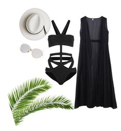"""""""Untitled #1"""" by sejla-skrebo ❤ liked on Polyvore featuring Hervé Léger and Calypso Private Label"""