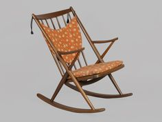 Danish Teak Rocking Chair by Frank Reenskaug