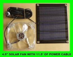 Solar Fan For Your, Dog House, Attic, Shed Crawl Space Or Motor Home