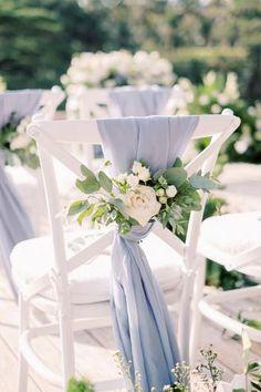 Blue And Blush Wedding, Dusty Blue Weddings, Floral Wedding, Rustic Wedding, Wedding Flowers, Blue Hydrangea Wedding, Fall Wedding, Wedding Ceremony, Wedding Isle Decorations