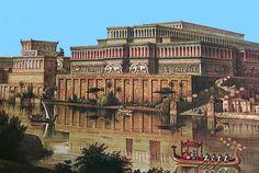El rey Senaquerib la nombró capital imperial en 705 a.C. y la engrandeció con avenidas, plazas y jardines en torno a su residencia real, un gigantesco edificio que él mismo llamó Palacio Sin Rival.