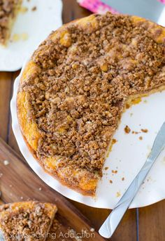 Super Crumb Coffee Cake - loaded with crumb topping this is such an easy-to-follow recipe!