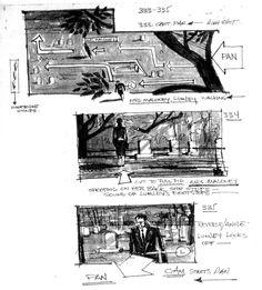 Hitchcock storyboards