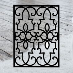 This decorative Wrought Iron Wall Art piece, Style 199,  features a Geometric rectangle silhouette that will add beauty and character to any wall or surface. It is coated in one of the most long-lasting finishes available - a flat black baked-on powder coated finish that will last for many years. Wrought Iron Wall Decor, Art Pieces, Silhouette, Powder, Surface, Flat, Garden, Character, Beauty