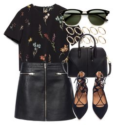 """Untitled #5375"" by laurenmboot ❤ liked on Polyvore featuring Zara, Alexander Wang, ASOS, Aquazzura and Ray-Ban"