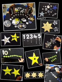 Numbers, patterns, counting, sorting - so many ideas! Space Theme Preschool, Preschool Math Games, Eyfs Activities, Space Activities, Number Activities, Counting Activities, Preschool Ideas, Space Projects, Space Crafts