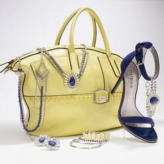 love love love the saphire shoes & accessories at Guess this Spring.