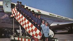 South African Airways Crews Ready to Serve You, 1972 Vintage Airliners Jets, Different Airlines, Nostalgia, Airline Uniforms, Flight Attendant, Travel Posters, South Africa, Aviation, African