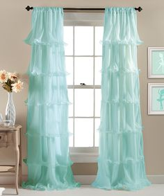 Another great find on #zulily! Aqua Nerina Curtain Panel by Lush Décor #zulilyfinds