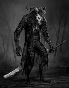 Bloodlust Skull Beast by on DeviantArt Dark Fantasy Art, Fantasy Artwork, Dark Art, Monster Concept Art, Monster Art, Arte Horror, Horror Art, Fantasy Character Design, Character Art