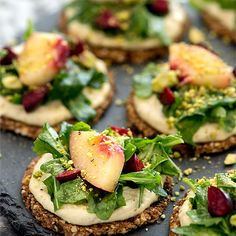 A great appetizer with Cracked Dried Cherry Flax Crackers and a pine nut pepper