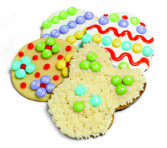 Easter Sugar Cookies with M&M'S - Flowers, bunnies and eggs - decorate Easter-themed sugar cookies with M&M'S to make tasty seasonal treats.