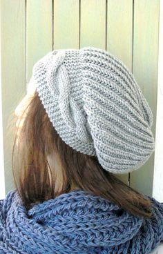 Hand Knit Hat Womens hat   Slouchy Beanie  Slouch  Hat  by Ebruk, $40.00