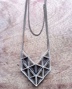 Fathom & Form Jewelry  Like 3D printed #jewelry? Morpheus custom makes jewelry from images using 3d printing technology http://www.morphe.us.com/
