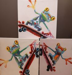 Assorted frog paintings, €50 - €65, available instore or online now!