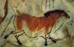 Caballo, h. 15000-10000 a.C. Pintura rupestre; Lascaux, Francia.