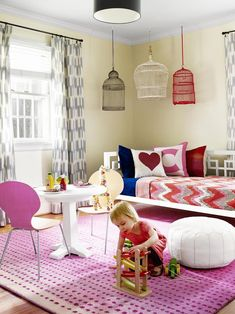 21 Best Playroom Design Ideas Inspiration for Kids Playroom Design, Playroom Decor, Playroom Ideas, Den Decor, Kids Decor, Wall Decor, Decor Ideas, Kid Spaces, Small Spaces