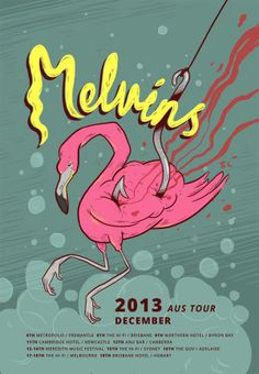 Melvins / Tour Poster by Sarah Larsen, via Behance