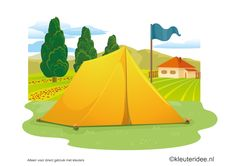 Kaartenset (20 kaarten) visuele discriminatie en kritisch luisteren voor kleuters 1, thema camping, kleuteridee.nl, juf Petra, preschool visual discrimination, camping theme