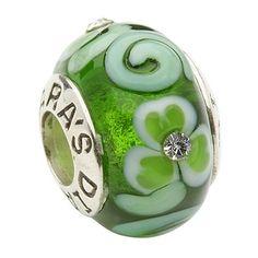 Tara's Diary 'Shamrock And Spiral' with Crystal (Green) - Tara Gift Shoppe