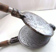 Norwegian Krumkake Iron.