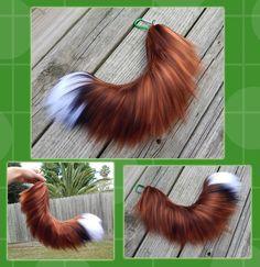 5a1257365 16 inch Realistic Fox yarn tail - COMMISSION by Black-Heart-Always Kids Fox