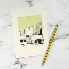 A5 Print  National Theatre  Green by MadeByMrsM on Etsy