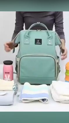 QUEENIE Ultimate Diaper Backpack Bag - Rated the Innovative Diaper Backpack Bag by Moms 2 Years in a Row! Get yours today 30 days money - Diaper Backpack, Baby Diaper Bags, Diaper Babies, Best Diaper Bag, Bag Essentials, Baby Life Hacks, Baby Gadgets, Baby Necessities, Everything Baby