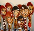 Linguri pictate din Moldova, diferite modele Traditional Art, Romania, Ronald Mcdonald, Fictional Characters, Planes, Fantasy Characters