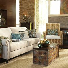 Living Room with Surat Trunk