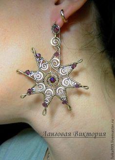 "Handmade earrings. Fair Masters - handmade earrings ""Vintage Star"". Handmade."