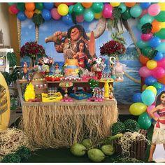 Moana Theme, Moana Party, Birthday Parties, Birthday Cake, Sweet Cheeks, Holidays And Events, Backdrops, Tropical, Ideas Para Fiestas