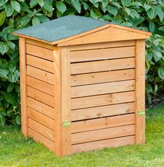 Hinged Lid Wooden Garden Composter - 288L