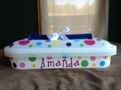 Personalized Cake Carriers. $17.00, via Etsy.