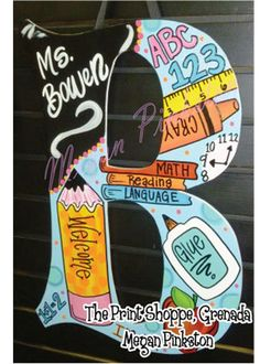 Hey, I found this really awesome Etsy listing at https://www.etsy.com/listing/196911076/initial-teacher-door-hanger