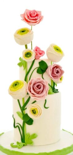 Spring Wind Cake. Indian Weddings Inspirations. Yellow Wedding Cake. Repinned by #indianweddingsmag indianweddingsmag.com #weddingcake