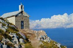 chapel on sv. jure/biokovo mountain/croatia.