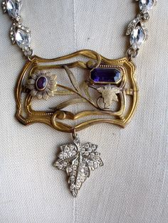 Bodacious purple vintage assemblage necklace recycled for Jewelry soldering kit hobby lobby