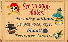 Pirate Party Invitation cards
