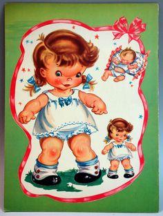 Un Cut Paper Doll Book Cuddles with Doll Paper Doll Samuel Lowe   eBay