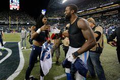 Seattle Seahawks cornerback Richard Sherman (25) and Detroit Lions wide receiver Calvin Johnson (81) exchange jerseys during the NFL regular season game on Monday, Oct. 5, 2015 in Seattle. (4201×2801)