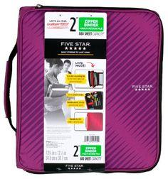 Five Star Zipper Binder Plus Multi Access File, 2-Inch Capacity, 13.75 x 12.12 x 3.5 Inches, Berry Pink/Purple (72540) Five Star http://www.amazon.com/dp/B00JIXY7PE/ref=cm_sw_r_pi_dp_4b0Qtb0RH9NQK5P8