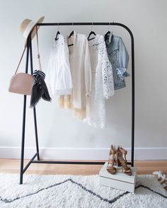 My secret weapon for planning projects and styling outfits is this garment rack. I am such a visual person, seeing everything laid out helps me stay organized. http://liketk.it/2r83Y #liketkit @liketoknow.it -- #LTKathome with @styledsnapshots