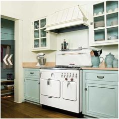 Celadon is an amazing color for the kitchen